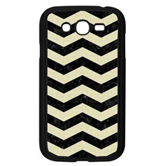 Chevron3 Black Marble & Beige Linen Samsung Galaxy Grand Duos I9082 Case (black) by trendistuff