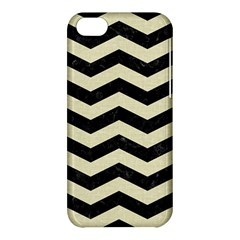 Chevron3 Black Marble & Beige Linen Apple Iphone 5c Hardshell Case by trendistuff