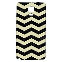 Chevron3 Black Marble & Beige Linen Galaxy Note 4 Back Case by trendistuff