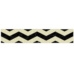 Chevron3 Black Marble & Beige Linen Flano Scarf (large) by trendistuff