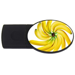 Bananas Decoration Usb Flash Drive Oval (4 Gb) by BangZart