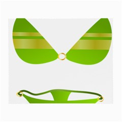 Green Swimsuit Small Glasses Cloth by BangZart