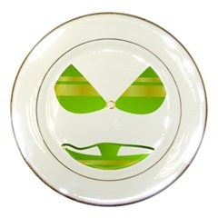 Green Swimsuit Porcelain Plates by BangZart