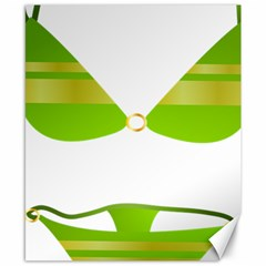 Green Swimsuit Canvas 8  X 10  by BangZart