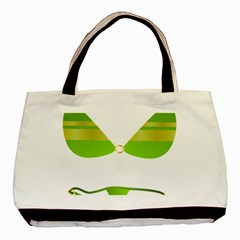 Green Swimsuit Basic Tote Bag (two Sides) by BangZart