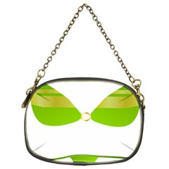 Green Swimsuit Chain Purses (two Sides)