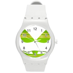 Green Swimsuit Round Plastic Sport Watch (m) by BangZart