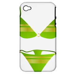Green Swimsuit Apple Iphone 4/4s Hardshell Case (pc+silicone)