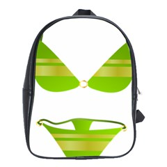 Green Swimsuit School Bags (xl)  by BangZart