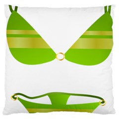 Green Swimsuit Large Flano Cushion Case (two Sides) by BangZart