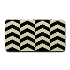 Chevron2 Black Marble & Beige Linen Medium Bar Mats by trendistuff