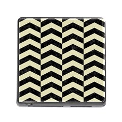 Chevron2 Black Marble & Beige Linen Memory Card Reader (square) by trendistuff