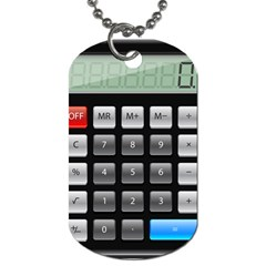 Calculator Dog Tag (one Side) by BangZart