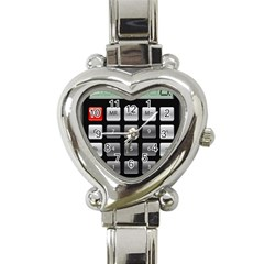 Calculator Heart Italian Charm Watch by BangZart