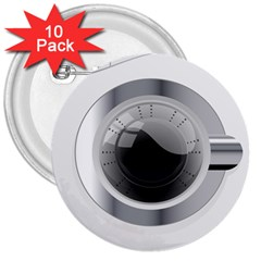 White Washing Machine 3  Buttons (10 Pack)