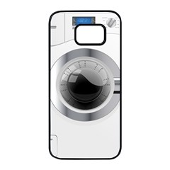 White Washing Machine Samsung Galaxy S7 Edge Black Seamless Case by BangZart