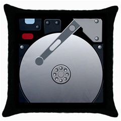 Computer Hard Disk Drive Hdd Throw Pillow Case (black) by BangZart
