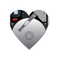 Computer Hard Disk Drive Hdd Heart Magnet by BangZart
