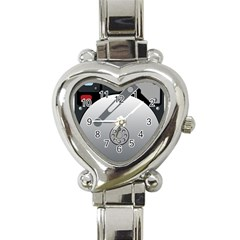 Computer Hard Disk Drive Hdd Heart Italian Charm Watch by BangZart