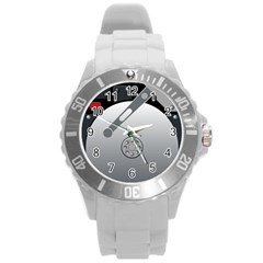 Computer Hard Disk Drive Hdd Round Plastic Sport Watch (l)
