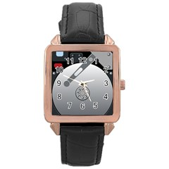 Computer Hard Disk Drive Hdd Rose Gold Leather Watch  by BangZart
