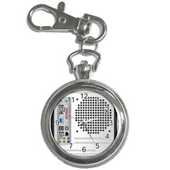 Standard Computer Case Back Key Chain Watches by BangZart