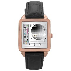 Standard Computer Case Back Rose Gold Leather Watch