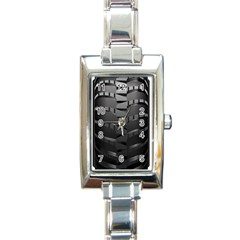 Tire Rectangle Italian Charm Watch by BangZart