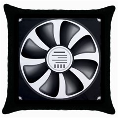 12v Computer Fan Throw Pillow Case (black) by BangZart