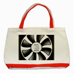 12v Computer Fan Classic Tote Bag (red) by BangZart