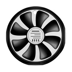 12v Computer Fan Round Ornament (two Sides) by BangZart