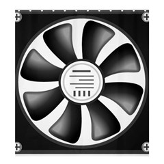 12v Computer Fan Shower Curtain 66  X 72  (large)  by BangZart