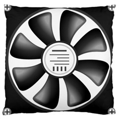 12v Computer Fan Large Cushion Case (two Sides) by BangZart