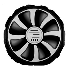 12v Computer Fan Large 18  Premium Flano Round Cushions