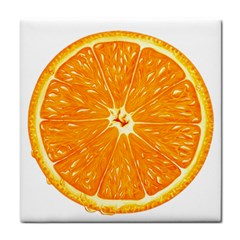 Orange Slice Tile Coasters by BangZart