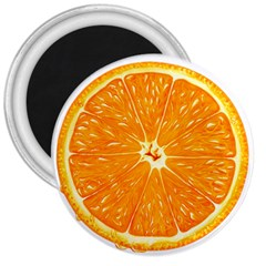 Orange Slice 3  Magnets by BangZart