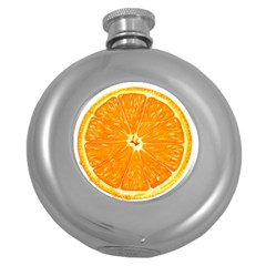 Orange Slice Round Hip Flask (5 Oz) by BangZart