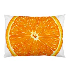 Orange Slice Pillow Case (two Sides) by BangZart