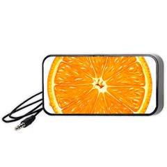 Orange Slice Portable Speaker (black) by BangZart
