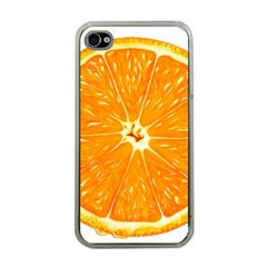 Orange Slice Apple Iphone 4 Case (clear) by BangZart