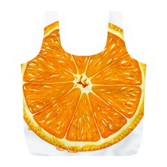 Orange Slice Full Print Recycle Bags (l)  by BangZart