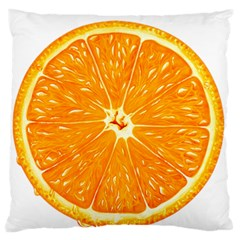 Orange Slice Standard Flano Cushion Case (two Sides) by BangZart