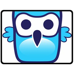 Owl Logo Clip Art Double Sided Fleece Blanket (large)  by BangZart