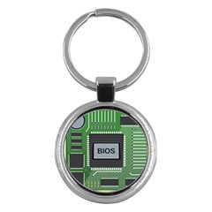 Computer Bios Board Key Chains (round)  by BangZart