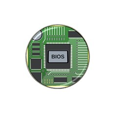 Computer Bios Board Hat Clip Ball Marker (4 Pack) by BangZart