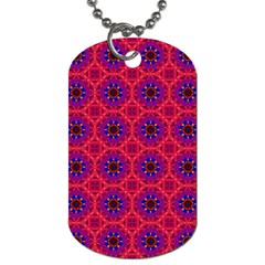 Retro Abstract Boho Unique Dog Tag (one Side)
