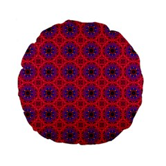 Retro Abstract Boho Unique Standard 15  Premium Flano Round Cushions by BangZart
