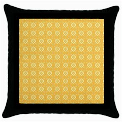 Yellow Pattern Background Texture Throw Pillow Case (black) by BangZart