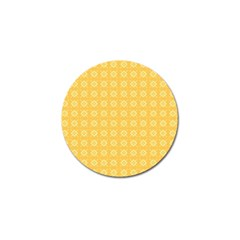 Yellow Pattern Background Texture Golf Ball Marker (10 Pack) by BangZart