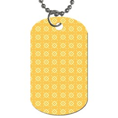 Yellow Pattern Background Texture Dog Tag (two Sides) by BangZart
